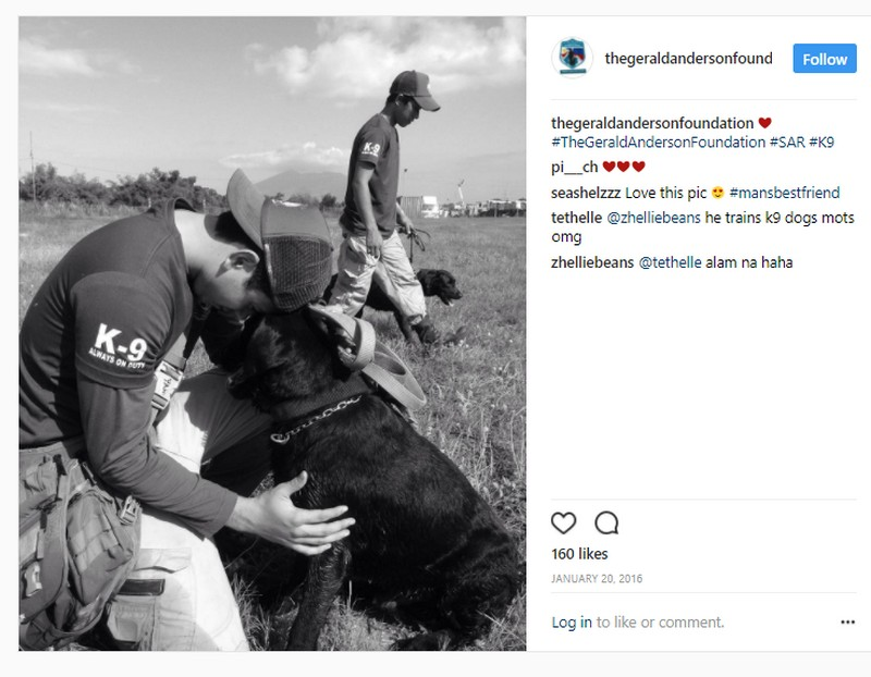 21 Photos of Gerald Anderson that show dogs are definitely a man's best friend